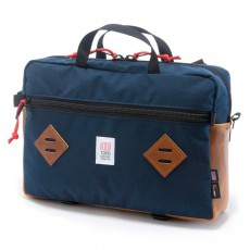 Mountain Briefcase Navy Brown Leather