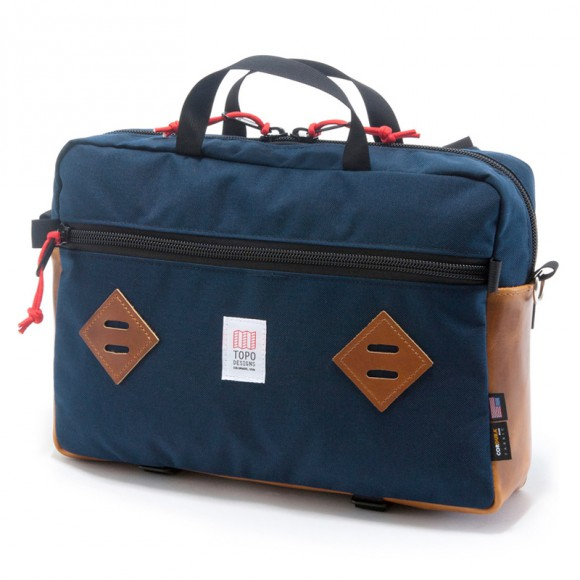 Mountain Briefcase Navy Leather