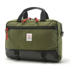 Commuter Briefcase Olive / Black Leather