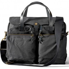 "24-Hour Tin Cloth Briefcase 15"" Noir"