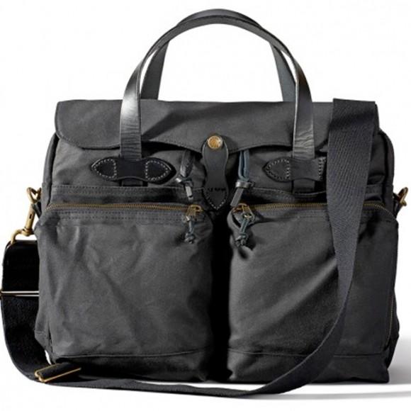"24-Hour Tin Cloth Briefcase 15"" Noir"