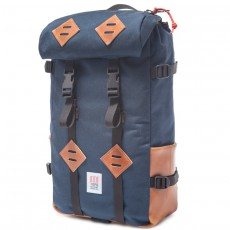 Klettersack Navy Brown Leather 22L