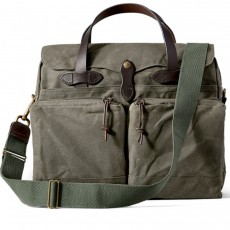 "24-Hour Tin Cloth Briefcase 15"" Otter Green"