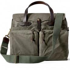 "24-Hour Tin Cloth Briefcase 15"" Otter Green Messenger Taske"