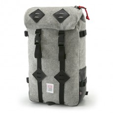 Klettersack Gray Wool Black Leather 22L