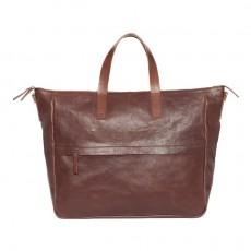 Dali Leather Tote Bag Brown