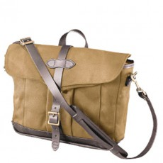 Rugged Twill Messenger Bag Tan