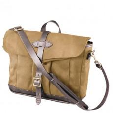 Rugged Twill Messenger Bag Tan