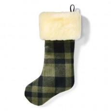 Christmas Stocking Otter Green Black