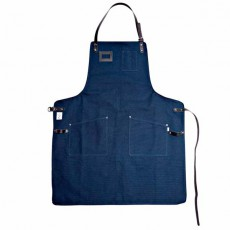 Ekstedt Apron Blue Waxed Black