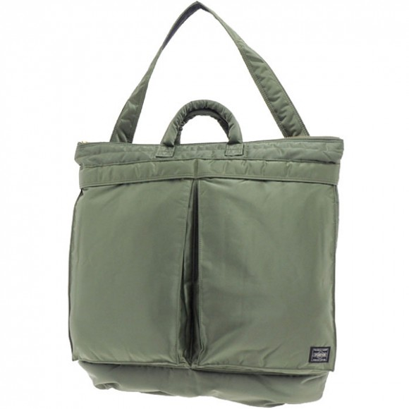 85474e9f23 Porter Yoshida Tanker 2 Way Helmet Bag Green 339