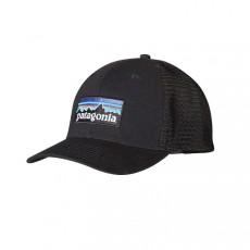 P-6 Logo trucker Hat Black