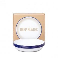 Set of 4 Deep Plates