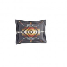 Pueblo Dwelling Charcoal Cushion Cover