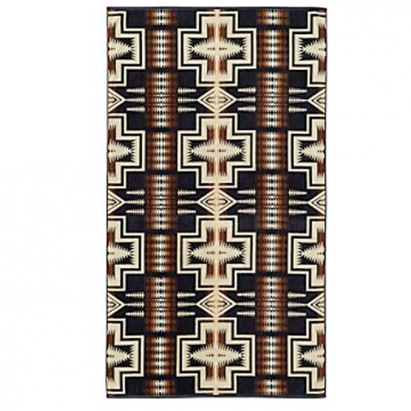 pendleton serviette de bain grande taille harding black 89. Black Bedroom Furniture Sets. Home Design Ideas