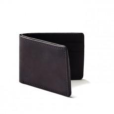 Portefeuille Utility Bi Fold Cuir Noir