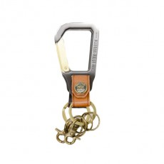 No 02000 Carabiner Key Holder Caramel