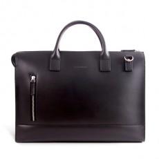Suffren Black Leather Briefcase