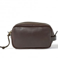 Trousse de Toilette en Cuir Imperméable Sierra Brown