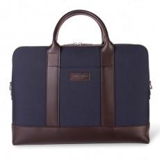 Montorgueil Bag Blue Cordura Brown Leather