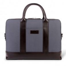 Montorgueil Bag Grey Cordura Brown Leather