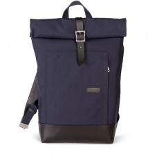 Caulaincourt Backpack Blue Cordura Black Leather