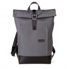 Caulaincourt Backpack Grey Cordura Black Leather