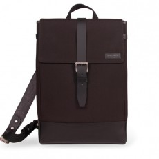 Menilmontant Backpack Black Cordura Black Leather