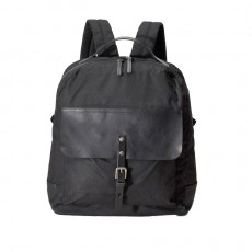 Ian Waxy Rucksack Black With Black Leather