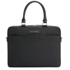 "Haneda Slim Computer Bag 15"" Black Nylon Black"