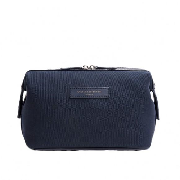 Trousse de Toilette Kenyatta Blue Cotton Blue Leather