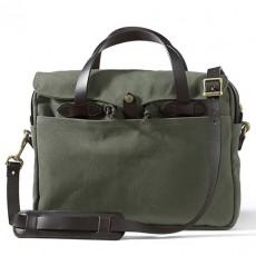 """Rugged Twill Original Briefcase 15"""" Otter Green Messenger Taske"""