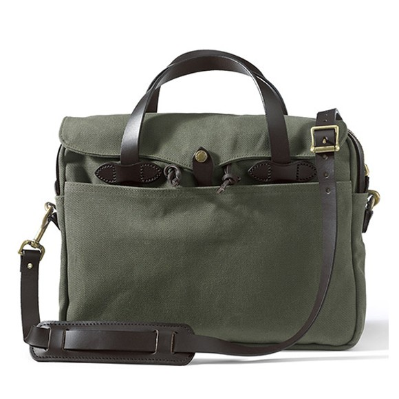 "Rugged Twill Original Briefcase 15"" Vert"