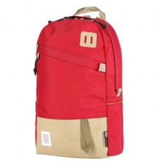 Day Pack Red Beige Leather