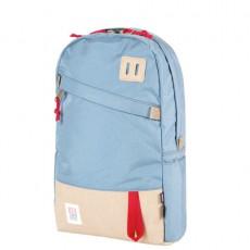 Day Pack Bleu Ciel Cuir Beige