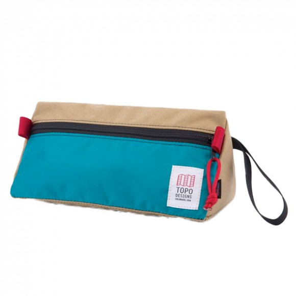 Dopp Kit Beige Turquoise