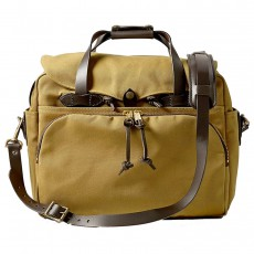 "Rugged Twill Padded Computer Bag 17"" Tan"