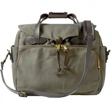 "Rugged Twill Padded Computer Bag 17"" Vert"