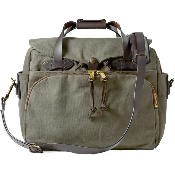 "Padded Computer Bag 17"" Otter Green"