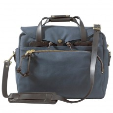"Rugged Twill Padded Computer Bag 17"" Bleu"