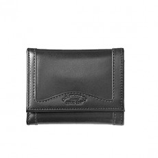 All Leather Tri-Fold Wallet Black