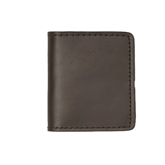 Bi fold Cash & Card Case Cuir Gris Vert