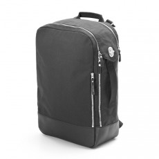 Backpack Black Leather Canvas