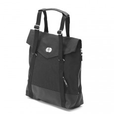 Tote Black Leather Canvas
