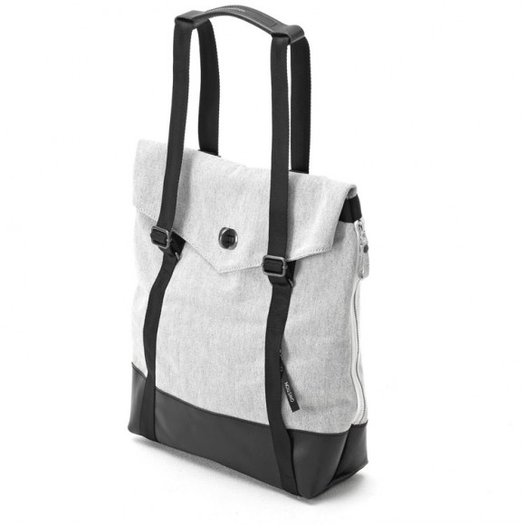 Tote Black Raw Blend Leather Canvas