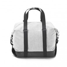 Simple Holdall Raw Blend Leather Canvas