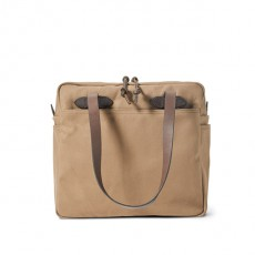 Tote With Zipper Sepia