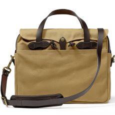 "Rugged Twill Original Briefcase 15"" Dark Tan"
