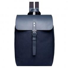Alva Blue with Black Leather