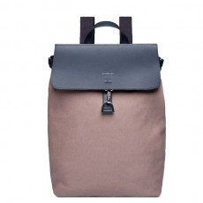 Alva Metal Hook Earth Brown Navy Leather